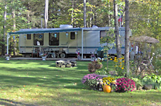 A Seasonal Campsite at Peppermint Park Camping Resort